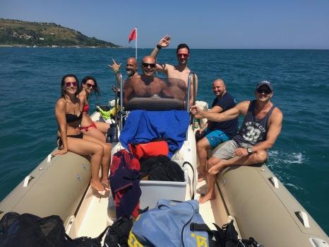 Immersione su relitto con gli amici di DAN EUROPE e ACQUATICA